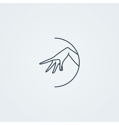 icons with a graceful female hand in a beautiful vector image vector image