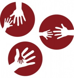 kids hands together vector image