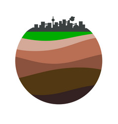 Layers of the earth vector
