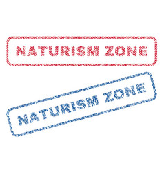 Naturism zone textile stamps vector