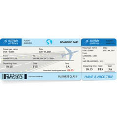 Pattern of boarding pass tickets vector