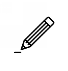Pencil Outline Icon vector image