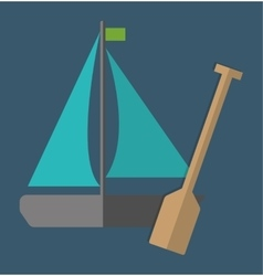 Sailboat over blue background icon image vector