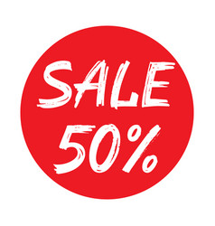 Sale 50 percent concept graphic vector