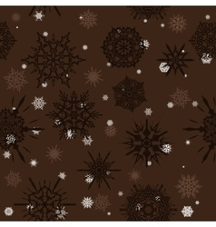 Seamless texture with snowflakes vector image