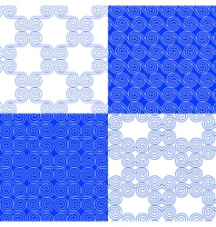 Set of classic greek geometric patterns vector