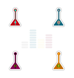 Set of color label design collection of musical vector