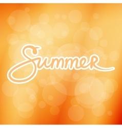 Soft orange blurred background with text summer vector