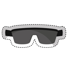 Sport sunglasses isolated icon vector