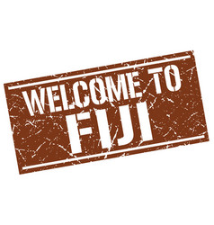 Welcome to fiji stamp vector