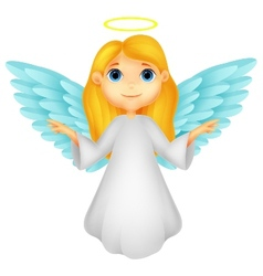 White angel cartoon vector image vector image