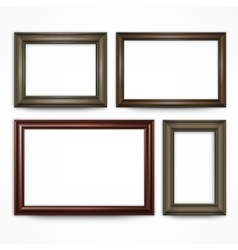 Wooden frames on white vector image vector image