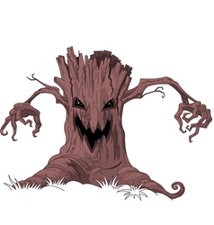 Scary tree vector image