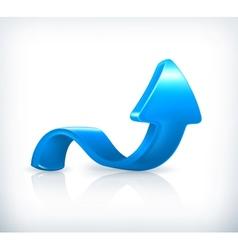 Blue up arrow vector