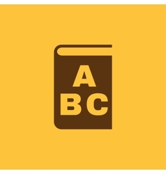 Alphabet icon design Library and ABC vector image