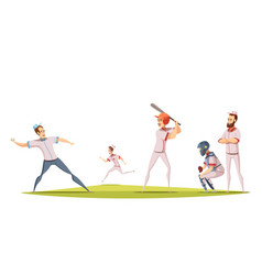 Baseball players design concept vector