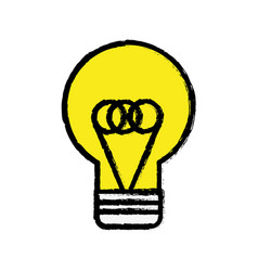 yellow flat bulb idea and creative icon vector image