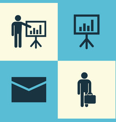 Job icons set collection of envelope vector