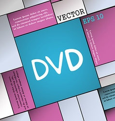 Dvd icon sign modern flat style for your design vector