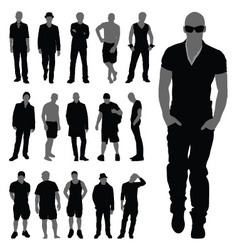 Silhouette men vector