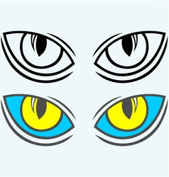 Wild cat eyes vector image