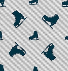 Ice skate icon sign seamless pattern with vector