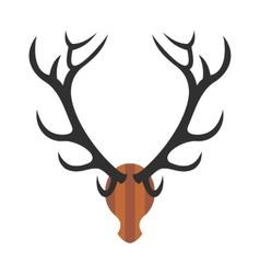 Deer head icon vector