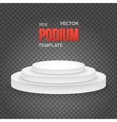 Photorealistic winner podium stage template vector