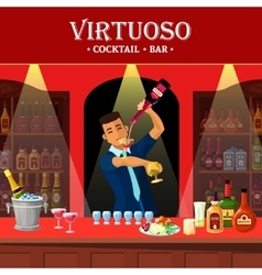 Bar counter flat vector