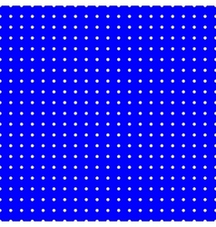 Polka dot white seamless pattern vector image