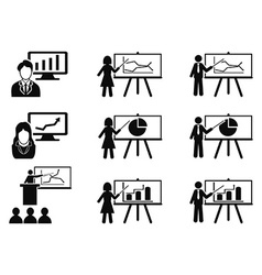 black Business lecture seminar meeting vector image