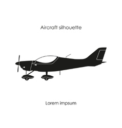 Black silhouette of a sports plane vector image