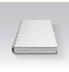 Blank book drawn in perspective with gradient mesh vector