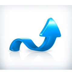 Blue up arrow vector image