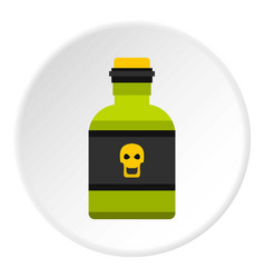 Bottle of poison icon circle vector