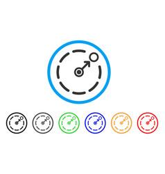 Circular area border rounded icon vector