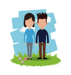 Couple relationship field background vector