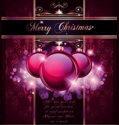Elegant merry christmas vector