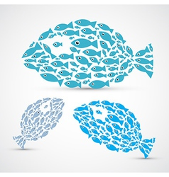 Fish Shaped Abstract Fish Set vector image vector image