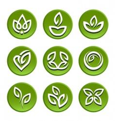 floral symbol vector image vector image