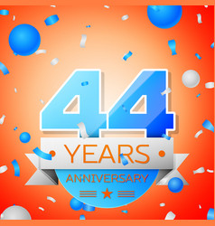 Forty four years anniversary celebration vector