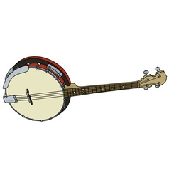 Four strings banjo vector