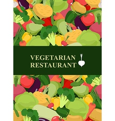 Fresh vegetables background Concept design vector image
