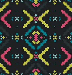 Geometric background tribal seamless pattern vector