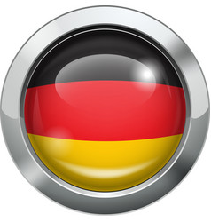 Germany flag metal button vector image