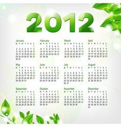 Green calendar 2012 vector
