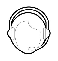 Headset and microphone desig vector