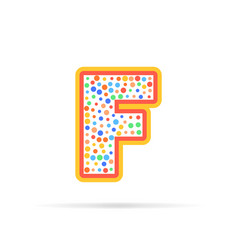 letter f with dots logo design vector image vector image