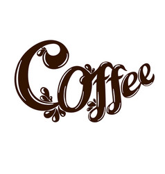 letter logo coffee vector image