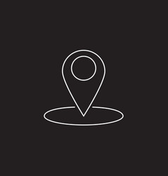Map pointer line icon outline logo vector
